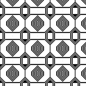Black and White Geometric 11