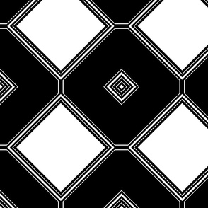 Black and White Geometric 21