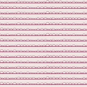 frilly stripe pinks