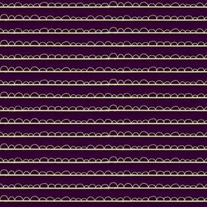 frilly stripe lime/midnight purple