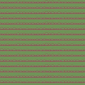 frilly stripe fuschia/green