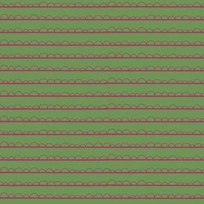 frilly stripe fuschia/green