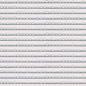 frilly stripe blush/pool blue