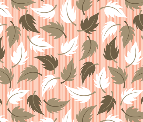 Leaf It to Carrie - large fabric by jewelraider on Spoonflower - custom fabric