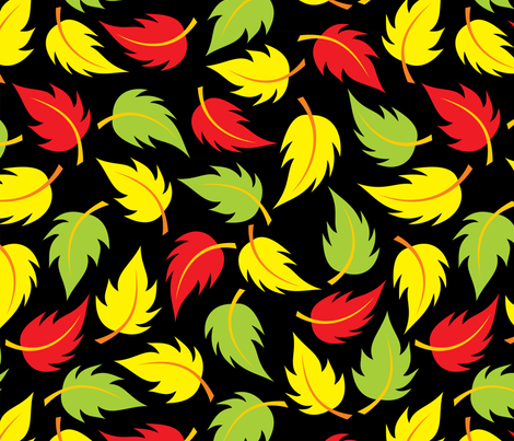 Leaf It to Luke - large fabric by jewelraider on Spoonflower - custom fabric
