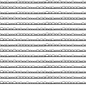 frilly stripe white/black