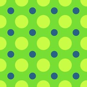 Green and Blue Polka Dot