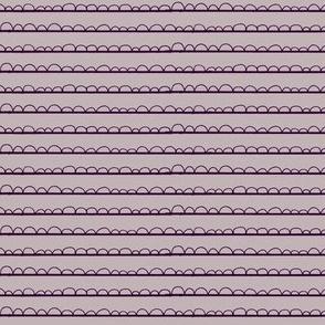 frilly stripe purples