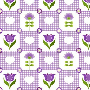 Groovy Flower Garden Purple