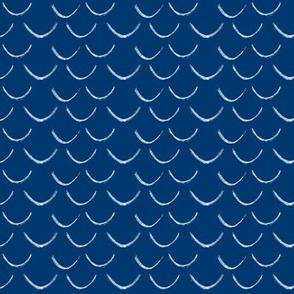 mermaid scales~nautical blue