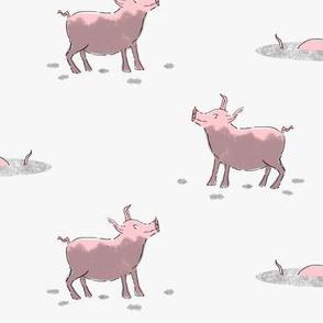Happy as a Pig in Mud Pink