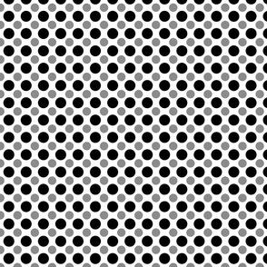 Black and Gray Polka dots