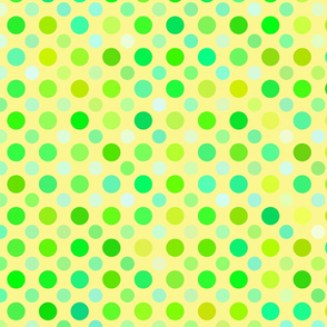 yellow green and blue dots