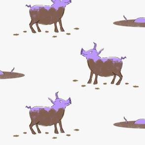 Happy as a Pig in Mud Purple