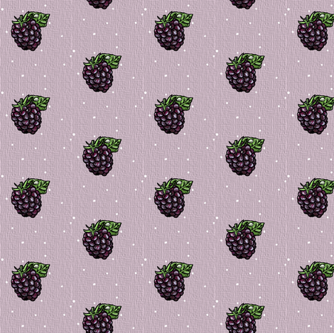 Blackberry Single - Muted Lavender - Small scale fabric by aspenartsstudio on Spoonflower - custom fabric