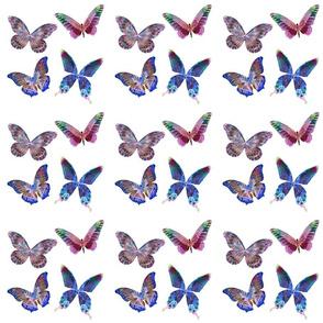 Pastel Mixed Butterflies