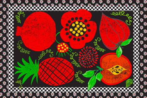 Red Apple fabric by orangefancy on Spoonflower - custom fabric