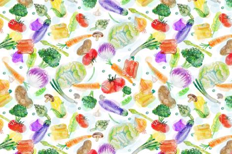veggie fabric by dramacatz on Spoonflower - custom fabric