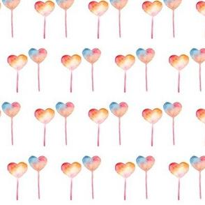 Heart Lollipops Watercolor