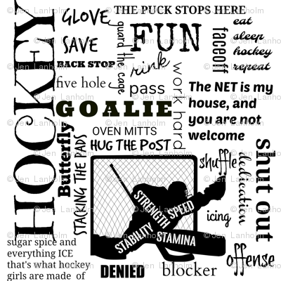 Girls Goalie hockey terms