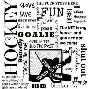 Girls Goalie hockey terms