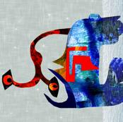 Art to Frame  monster Eyeba