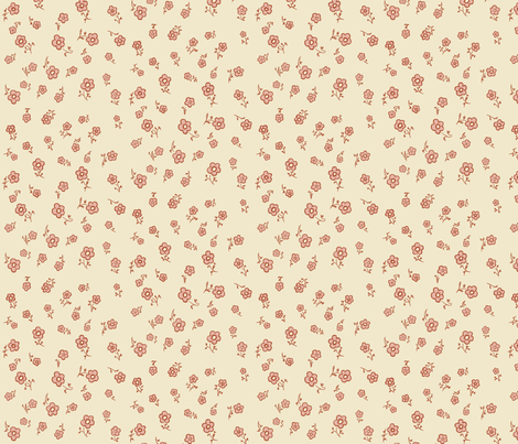 Simply Daisy: 18th Century Inspired fabric by thruthewardrobeco on Spoonflower - custom fabric