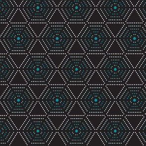 Dharma - Hexagon Geometric Dot Black
