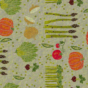 textured veggies