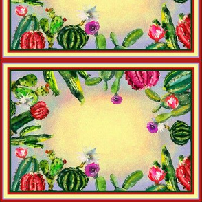 CACTUS RECTANGULAR LABELS TILES