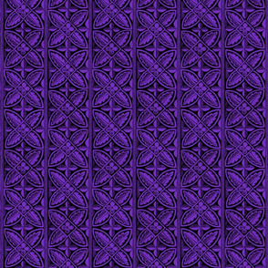 Gothic Cathedral Flowers Purple Black