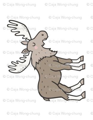 Moose Plush Plushie Softie Cut & Sew