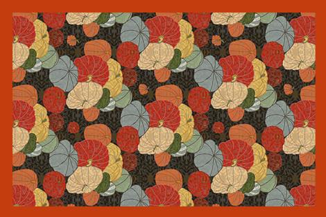 PUMPKIN Farm Towel fabric by lfntextiles on Spoonflower - custom fabric