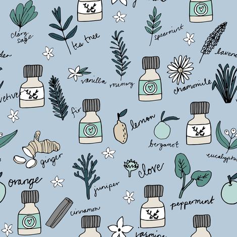 essential oils fabric // botanical essential oils design nature herbal medicine design - lavender  fabric by andrea_lauren on Spoonflower - custom fabric