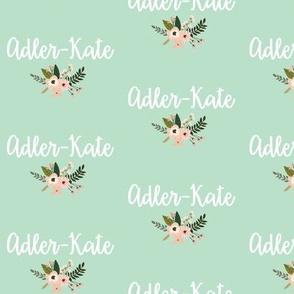 Adler-Kate - Mint and Floral
