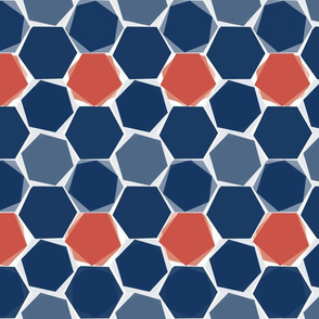 Hexagons - colorway 1