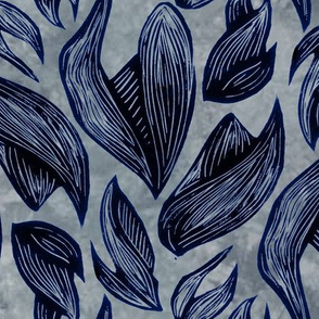 leafy block print
