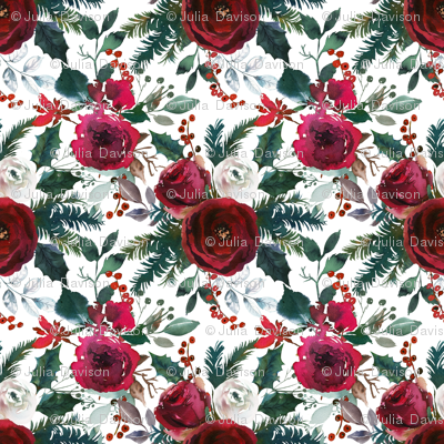 Christmas Floral White Small