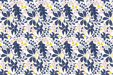 Botanical Block Print fabric by michelle_luu on Spoonflower - custom fabric