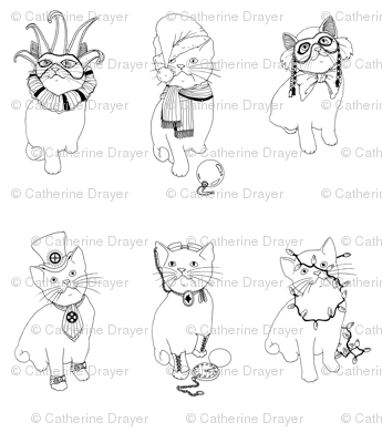 Cat_selection_bw_singles_2