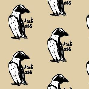 jackass penguins block print