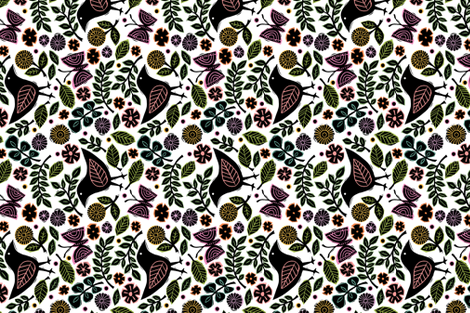 In My Garden fabric by twohanddesign on Spoonflower - custom fabric