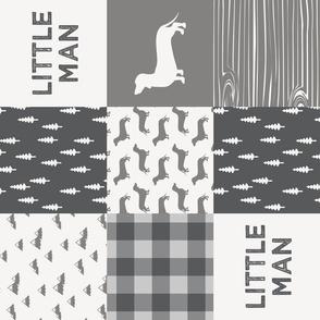 Little Man - Dachshund / Weiner dog - Grey (90)