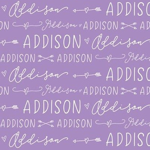 Girls Personalized Name Baby Fabric - Addison