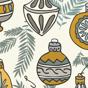 Ornaments - Caramel, Spruce, Ivory