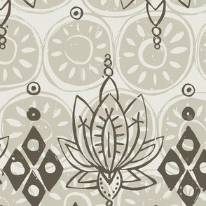 lotus diamond linen