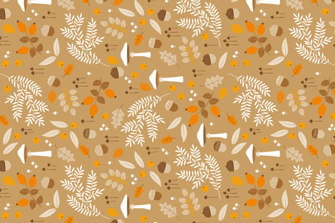 fall botanical print fabric by heleenvanbuul on Spoonflower - custom fabric