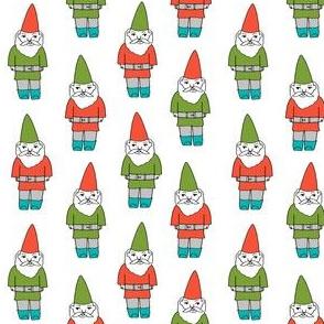 gnome fabric // winter christmas gnomes elves design mythical magic fantasy - bright