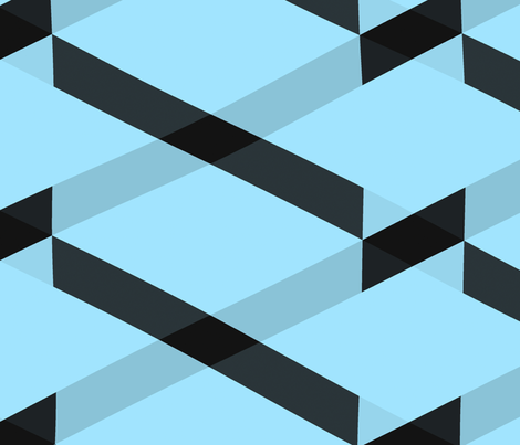 black_and_blue_chevron_glitch fabric by christy_leigh on Spoonflower - custom fabric