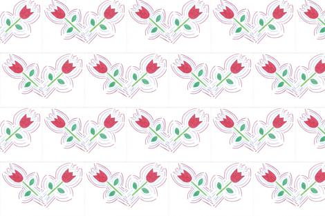 Tulip Block fabric by kate's_kwilt_studio on Spoonflower - custom fabric
